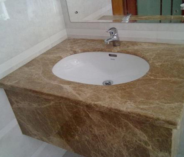 Marble Light Emperador Bathroom Countertop
