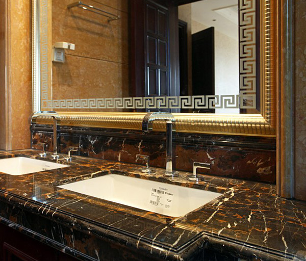 Portoro Gold Marble Bathroom Countertop